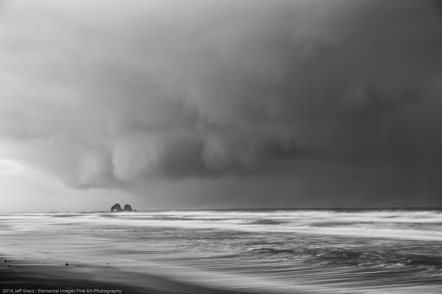 Twin Rocks, incoming squall | Rockaway Beach | OR | USA - © 2016 Jeff Gracz / Elemental Images Fine Art Photography - All Rights Reserved Worldwide