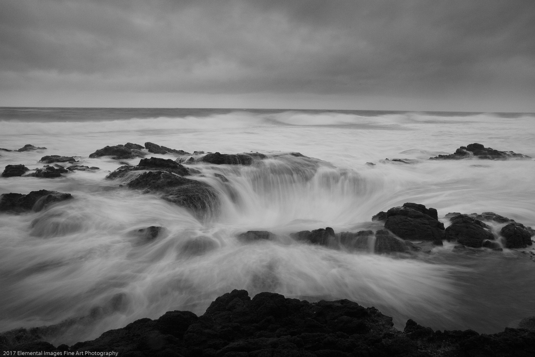 Thor's Well | Cape Perpetua | OR | USA - © 2017 Elemental Images Fine Art Photography - All Rights Reserved Worldwide