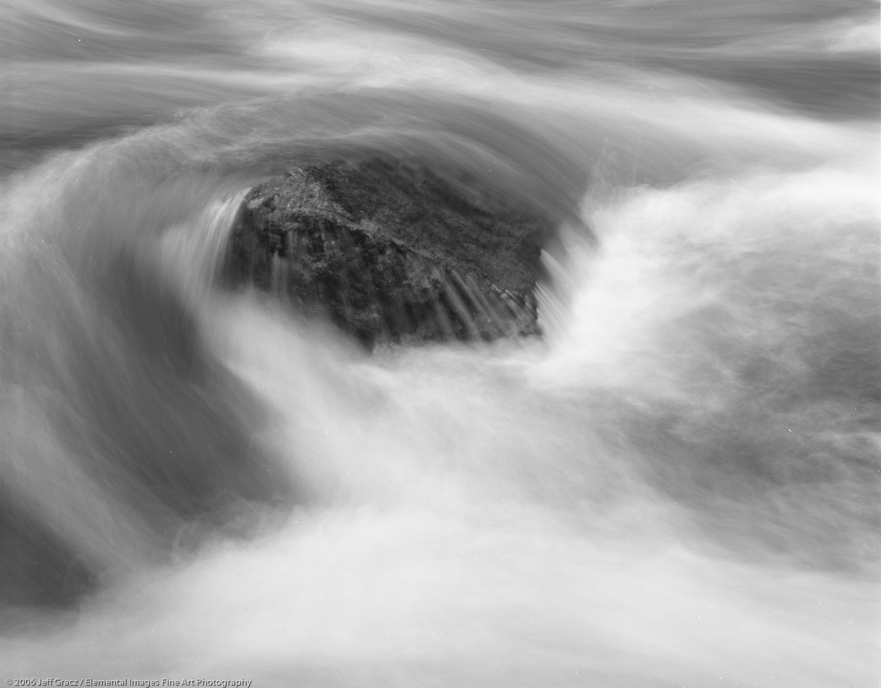 rock and flowing river | umatilla national forest | OR | usa - © © 2006 Jeff Gracz / Elemental Images Fine Art Photography - All Rights Reserved Worldwide