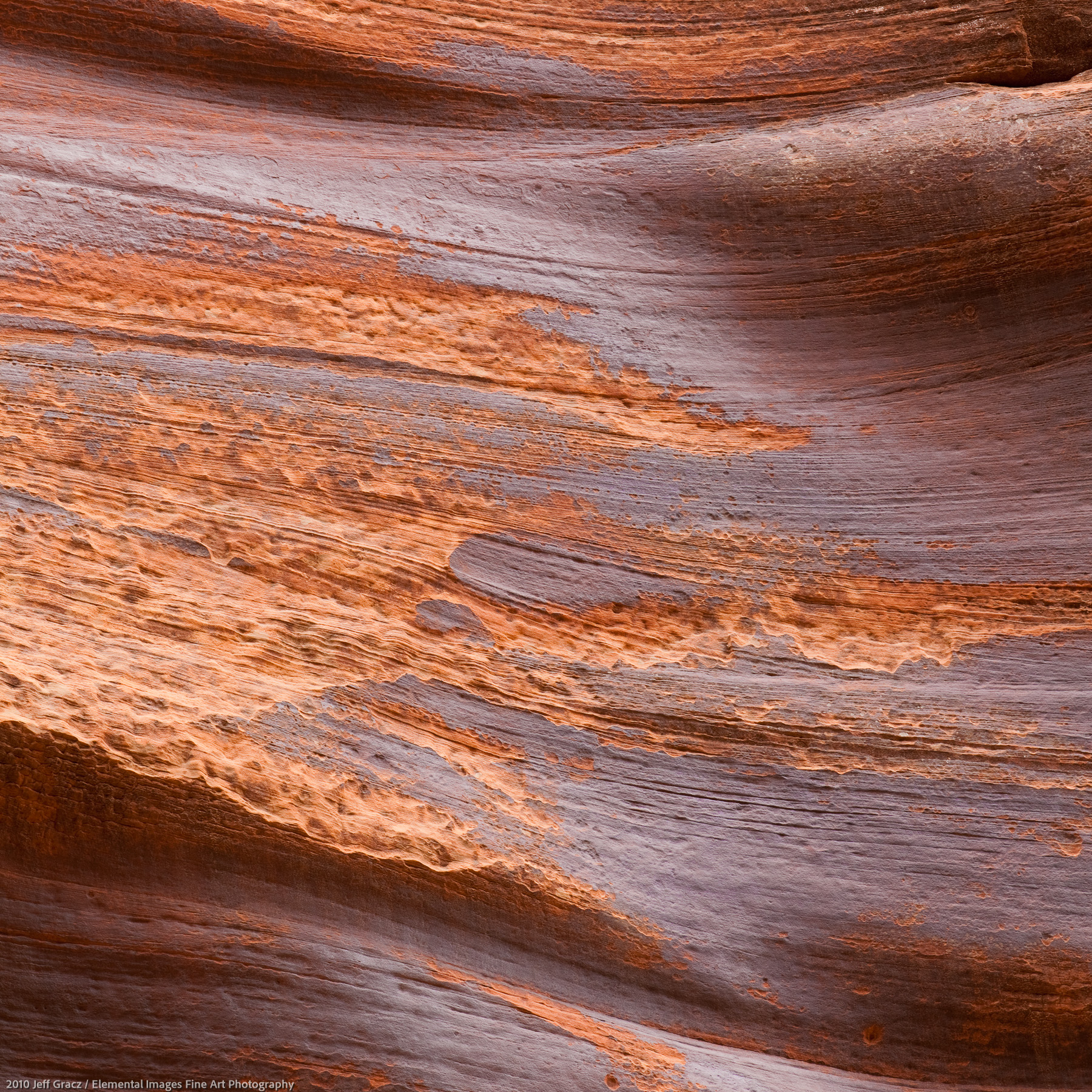 Canyon Wall VIII | Paria Canyon / Vermillion Cliffs Wilderness | UT | USA - © 2010 Jeff Gracz / Elemental Images Fine Art Photography - All Rights Reserved Worldwide