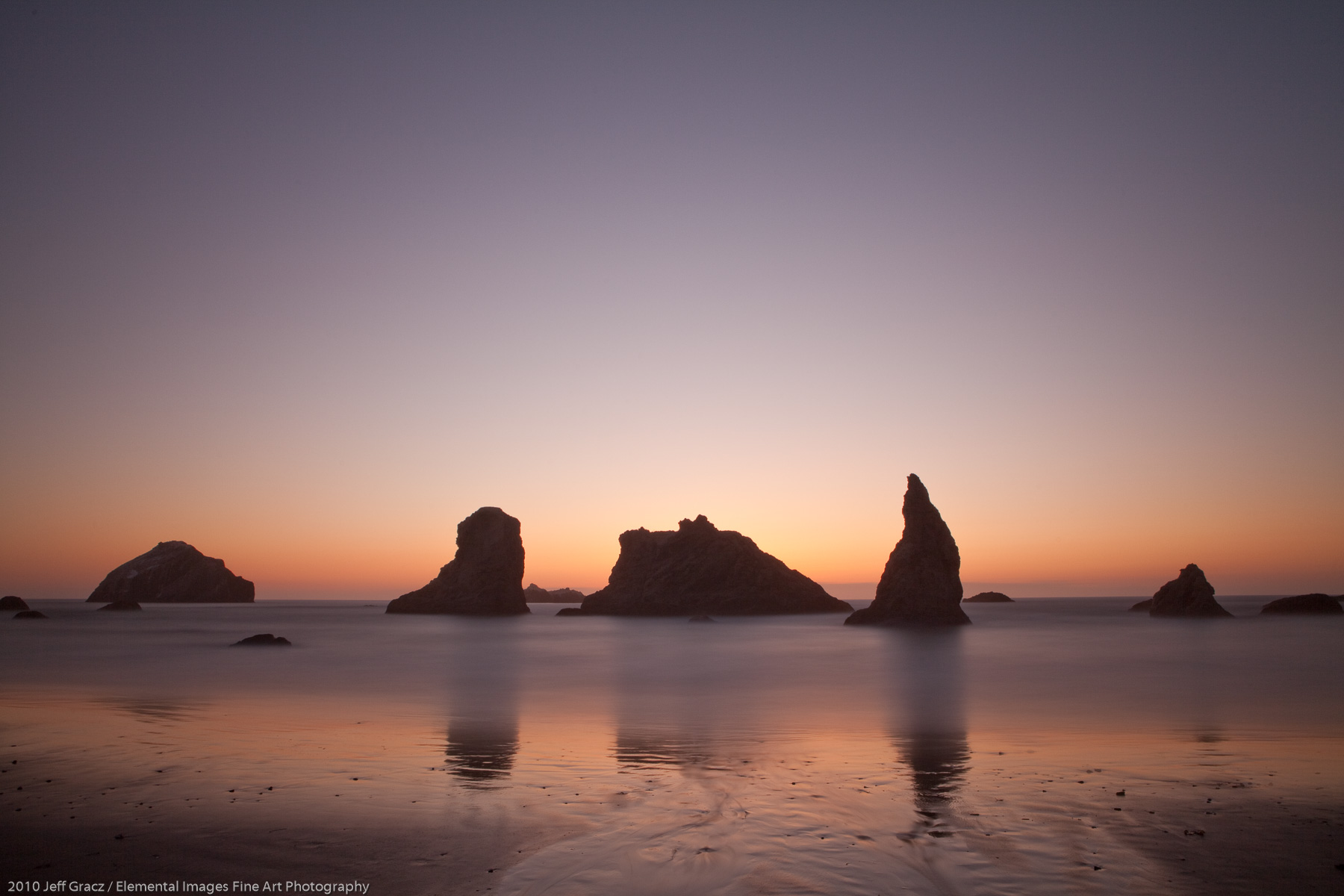 Last Light on Bandon Beach | Bandon | OR | USA - © 2010 Jeff Gracz / Elemental Images Fine Art Photography - All Rights Reserved Worldwide