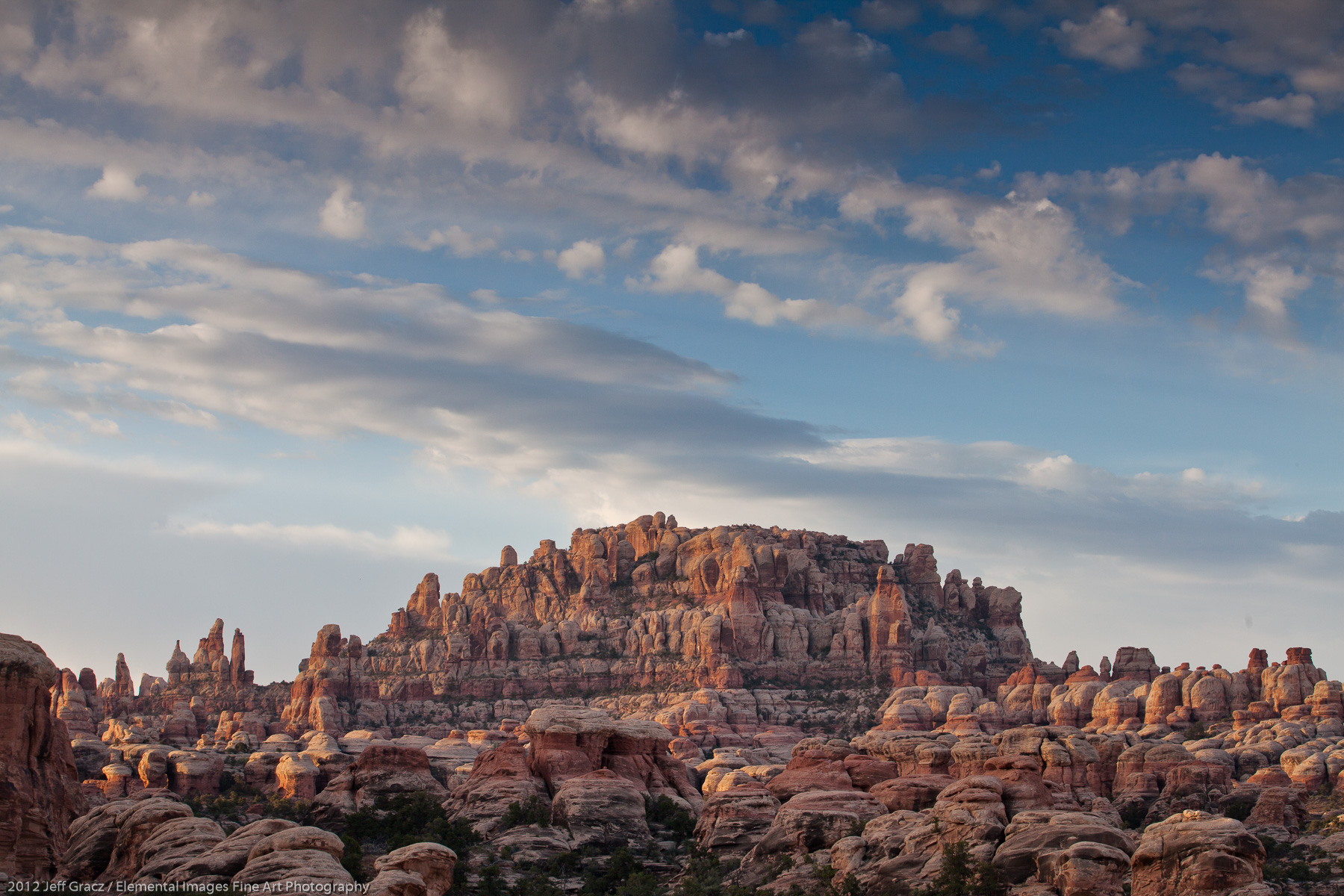 Needles and Buttes | Canyonlands National Park | UT | USA - © 2012 Jeff Gracz / Elemental Images Fine Art Photography - All Rights Reserved Worldwide