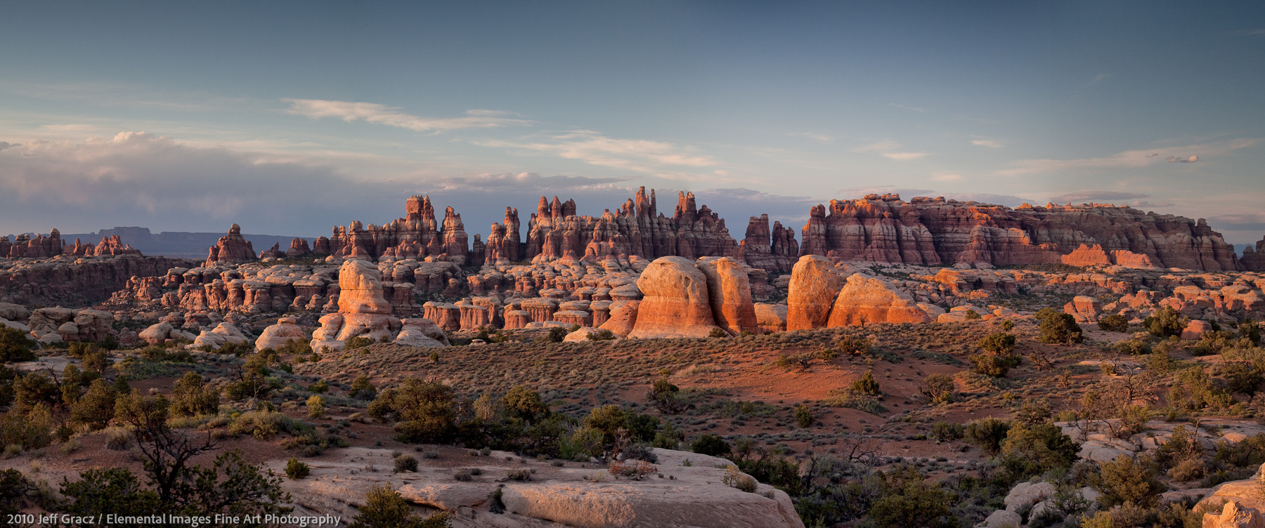 The Needles from Butler Flat | Canyonlands National Park | UT | USA - © 2010 Jeff Gracz / Elemental Images Fine Art Photography - All Rights Reserved Worldwide