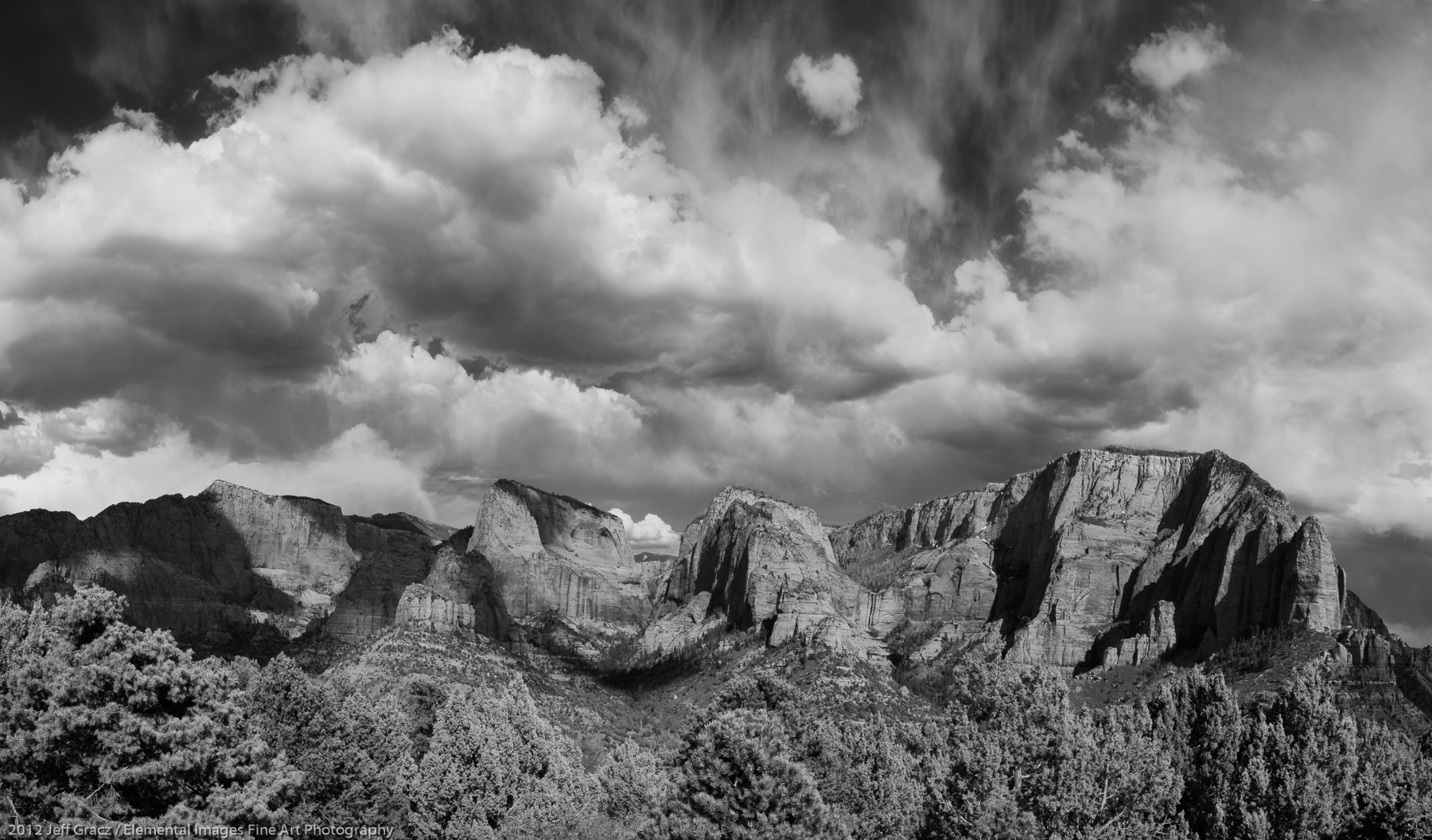 Clouds over the Kolob Canyons | Zion National Park | UT | USA - © 2012 Jeff Gracz / Elemental Images Fine Art Photography - All Rights Reserved Worldwide