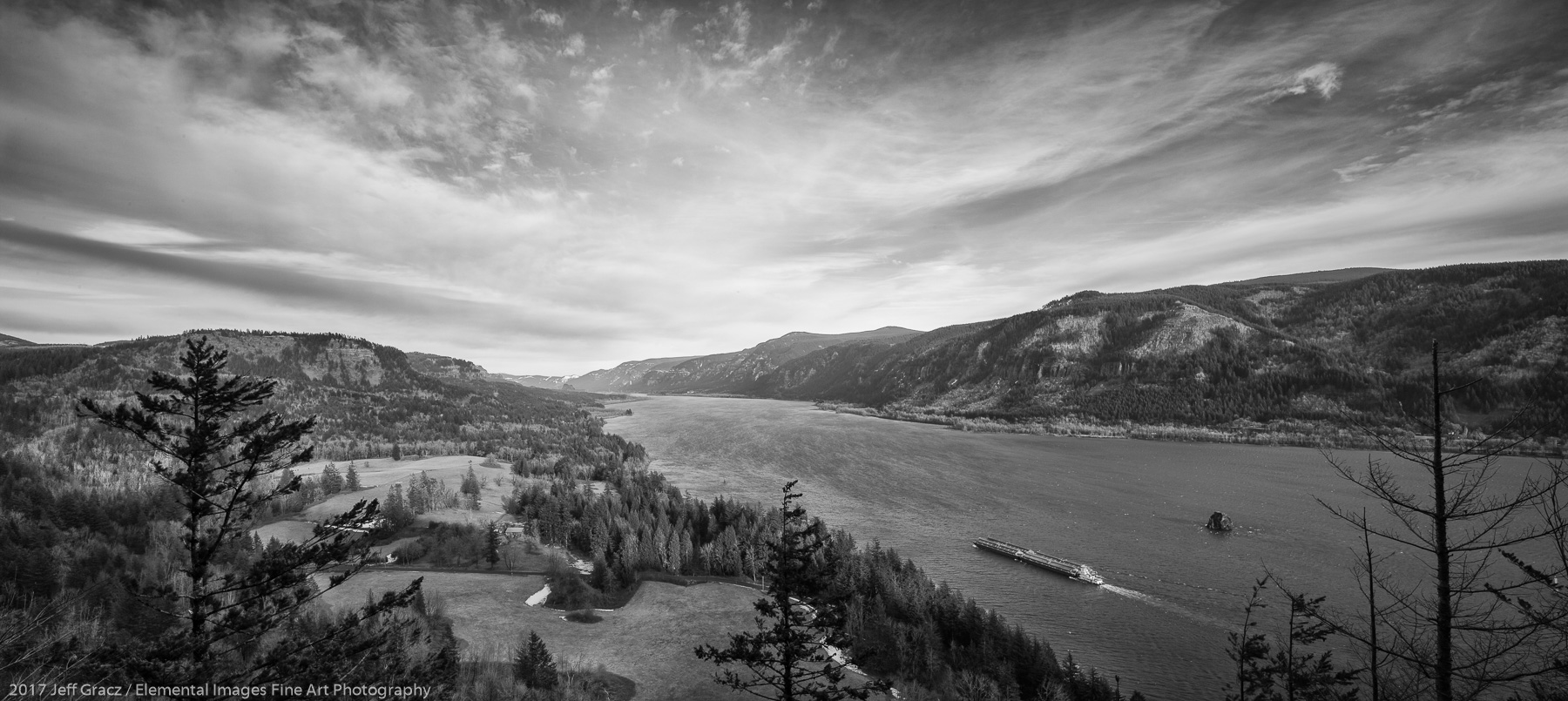The Columbia River Gorge   Columbia River Gorge National Scenic Area   WA   USA - © 2017 Jeff Gracz / Elemental Images Fine Art Photography - All Rights Reserved Worldwide